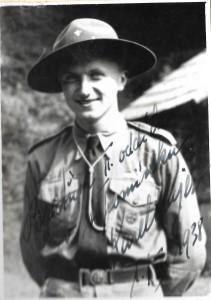 Karel Majer, zástupce vůdce II. oddílu Břeclav a autor článku o konci skautingu v Břeclavi